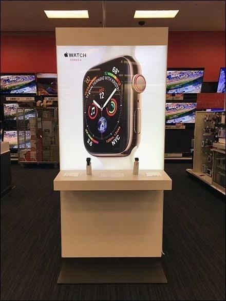 Minimalist Apple Watch Freestanding Exhibit