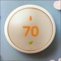 Nest Thermostat Corrugated House-Shaped Display