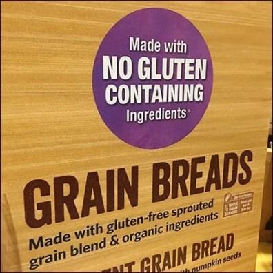 Gluten-Free Vs No Gluten Ingredients Signing