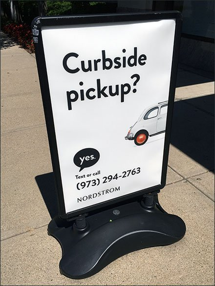 Nordstrom Curbside Pickup Sidewalk Sign