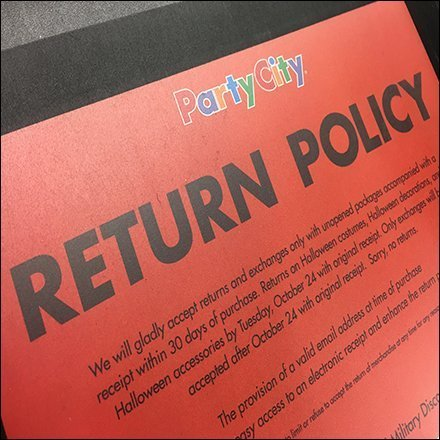 Return Policy Counter Mat Communique