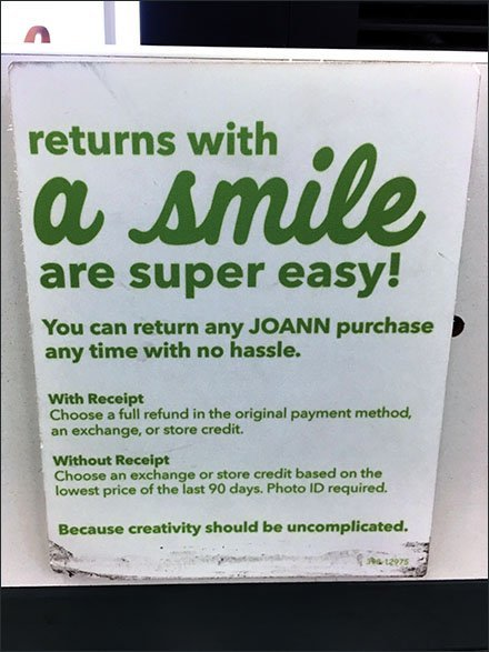 Returns With A Smile Are Super Easy