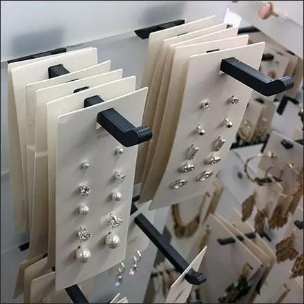 Fashion Jewelry Plastic Slotwall Display Hook