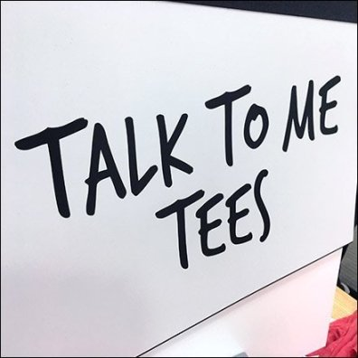 Talk-To-Me Tees T-Shirt Display Signage
