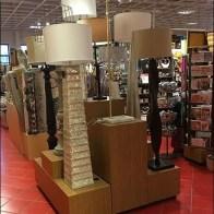 Tiered Floor Lamp Lighting Island Display