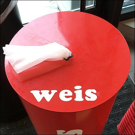 Weis Store Fixtures / Weis Merchandising - Weis Cart Wipes Cylindrical Brand Statement