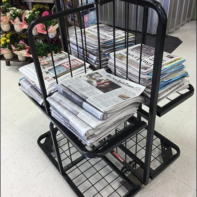Multi-Sided Newspaper Rack