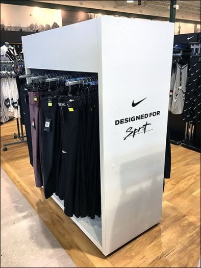 Nike Enclosed Sport Apparel Rack Concept