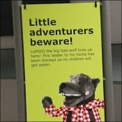 Little Adventurers Beware IKEA Warning Sign