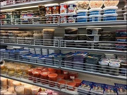 Fencing Cooler Facings In Gourmet Grocery