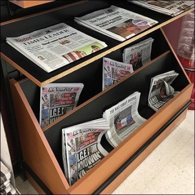 Multi-Direction Facing Newsstand