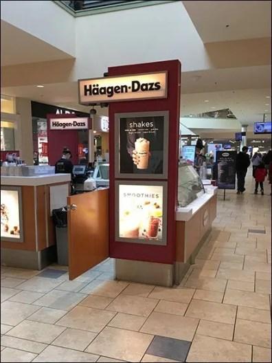 Haagen Dazs Mall Concourse Ice Cream Kiosk