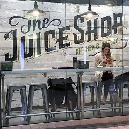 Juice Shop Customers as Window Dressing