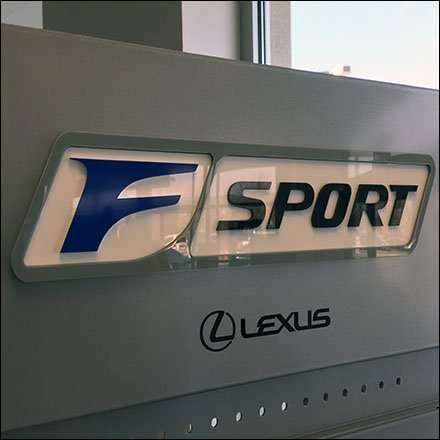 Lexus F-Sport Auto Accessories Logo