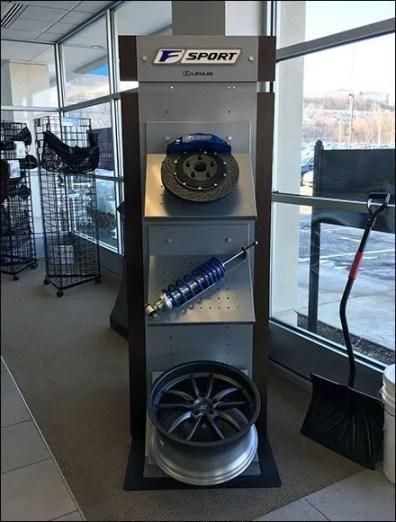 Lexus F-Sport Auto Accessories Assortment Display