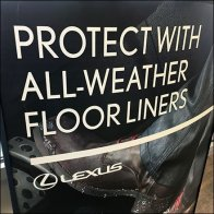 Lexus Protect With Floor Liners Floorstand Sign Feature
