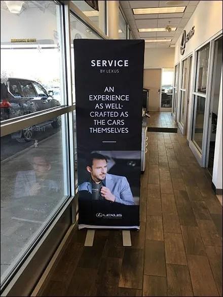 Lexus Lifestyle Service Fabric Sleeve Sign