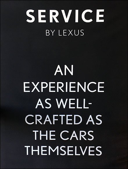 Lexus Lifestyle Service Fabric Sleeve Banner
