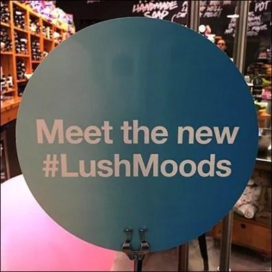 Lush Window Dressing #LushMoods Hashtag Display
