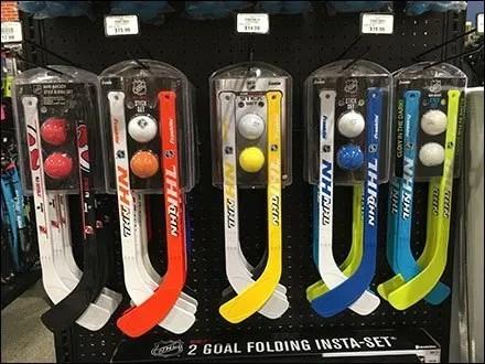 NHL Hockey Set Display