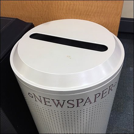 Newspaper Recycling Perforated Disposal Bin