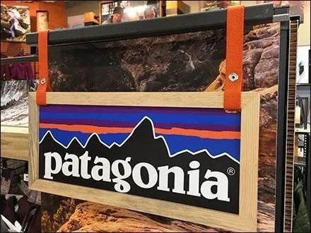 Patagonia Brand Display Sign On Belay