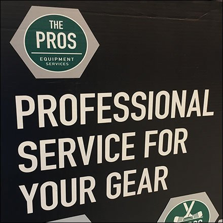 Professional Sporting Goods Gear Service Sign