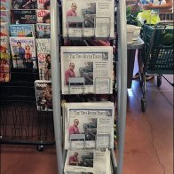 Sickles Curved Newspaper Rack