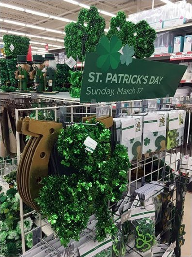 St. Patrick's Day Mobile Merchandising Island