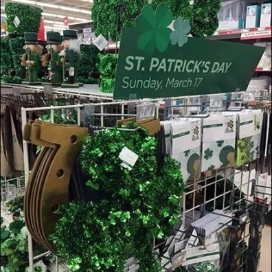 St. Patrick's Day Mobile Merchandising Island