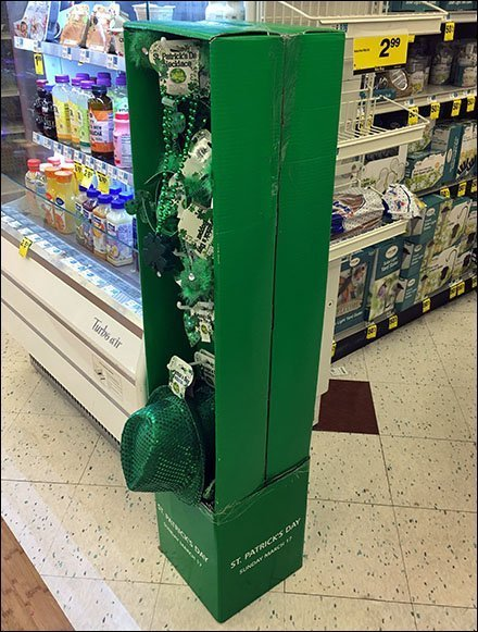 St. Patrick's Day Two-Way Tower Display
