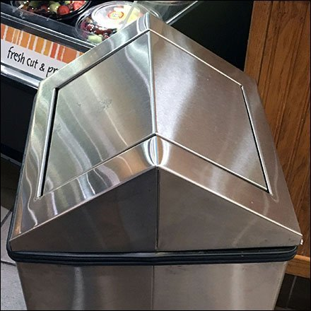 Stainless Steel Triangle-Top Waste Container Feature2