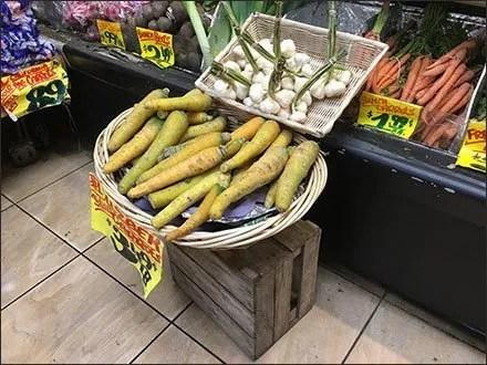 Yellow Uzbek Carrot Display Quarantined
