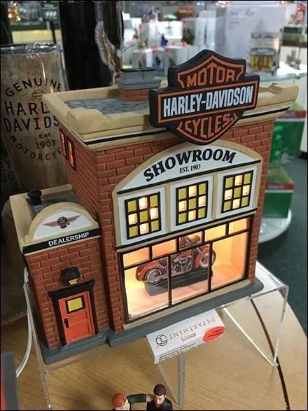 Village Harley Dealer Miniature