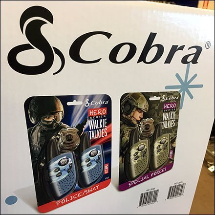 Cobra Walkie Talkie Hero Display Feature