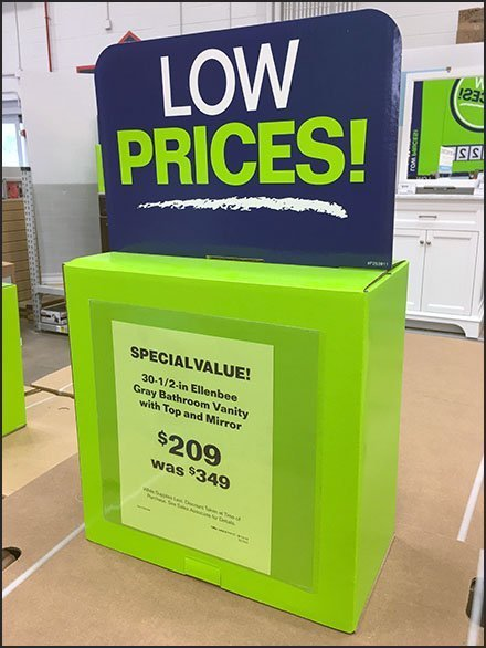 Corrugated Attention Compellers At Lowes