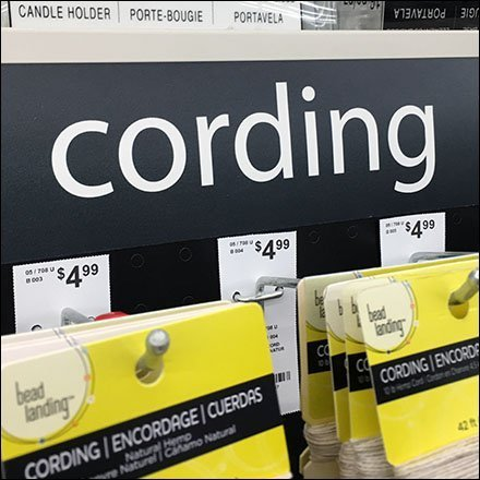 Craft Cording Inline Gondola Merchandising Feature