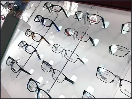 Declined Eyeglass Selection Backlit Display