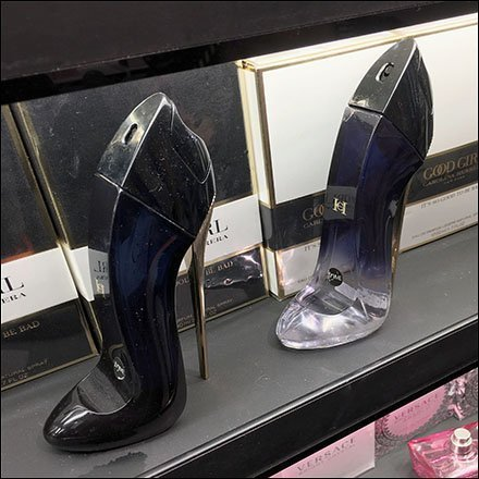 Good Girl High Heels Strut Shelf Edge