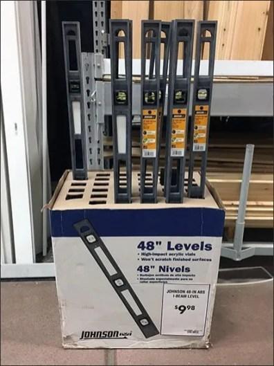 Johnson Four Foot Level Floor Display