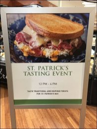 Irish Taste Test Event for St Patricks Day