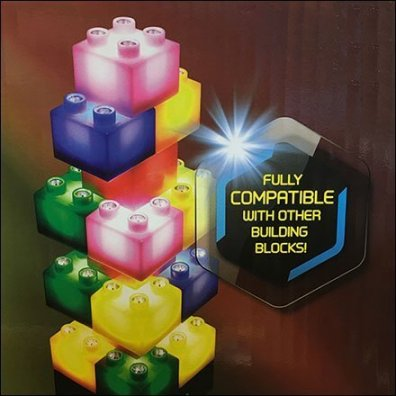 Lego-Compatable Light Stax Building Blocks Square2
