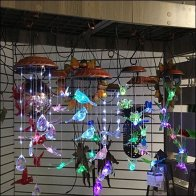 Lighted Wind Chime Pergola Display In-Store