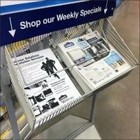 Weekly Specials In-Store Flyer Literature Rack