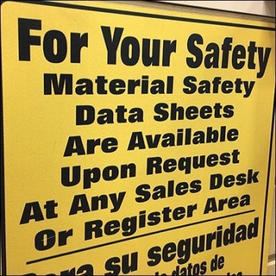 Material Safety Data Sheets Posted in Retail Feature