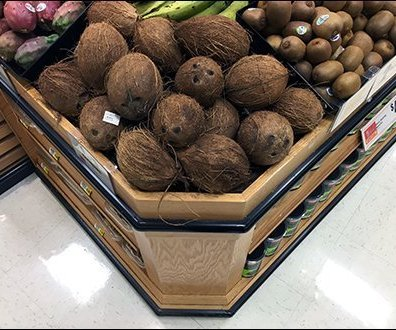 Fresh Coconut Display Cutting Corners