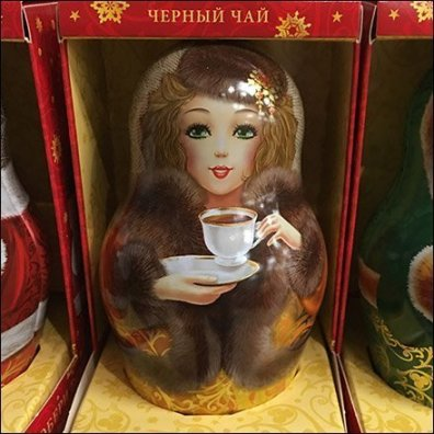 Non-nesting Matryoshka Doll Tea Caddy