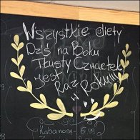 Ethnic Polish Deli Chalkboard Specials List