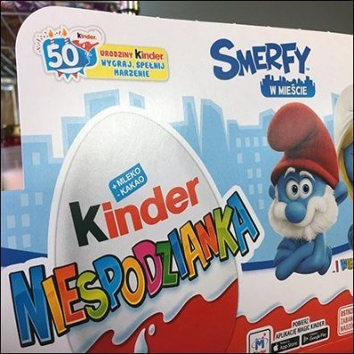 Polish Smurf Kinder Joy Merchandising