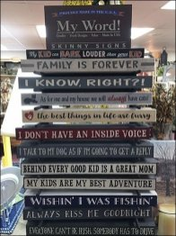 Stacked Skinny Sign Tower Display